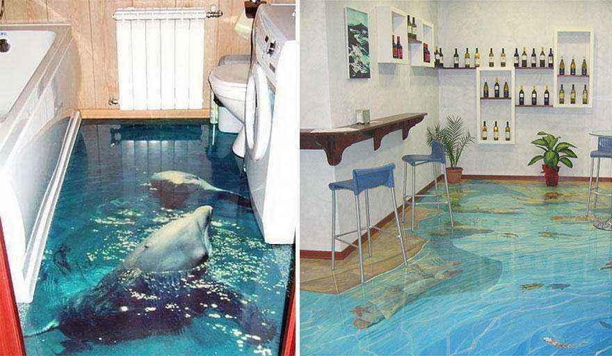 Хотите превратить свою квартиру в океан? 3D полы помогут вам в этом!