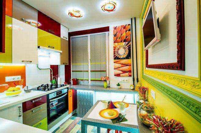 Шестиметровая кухня может преобразиться самым неожиданным образом
