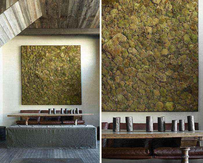 Экостиль в интерьере: потрясающие композиции из мха
