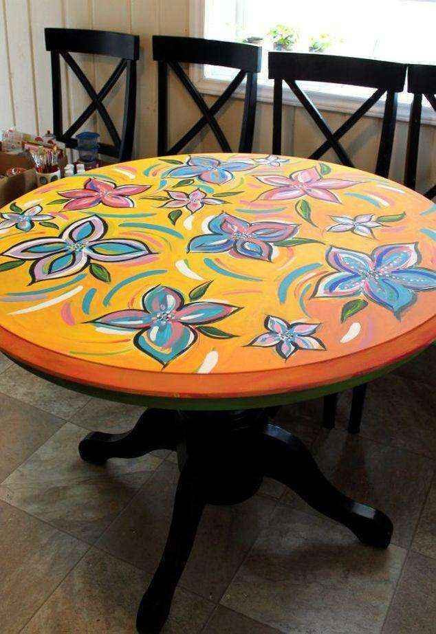 Как потратив минимальную сумму преобразить кухонный стол до неузнаваемости?