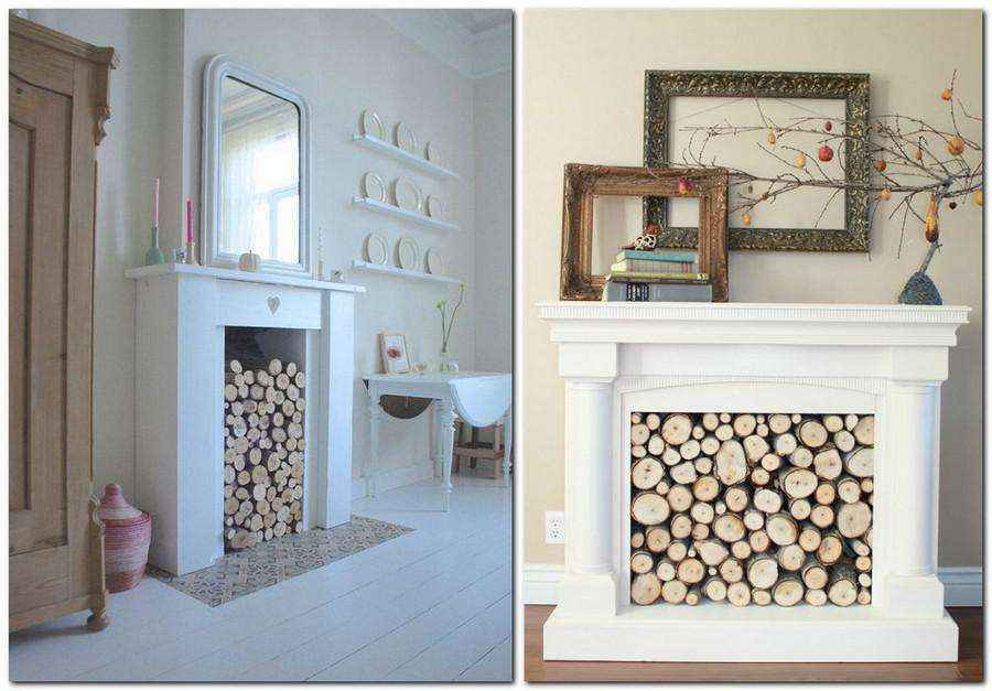 3-2-wood-cross-sections-tree-trunk-home-decor-interior-log-firewood-faux-fireplace-ideas