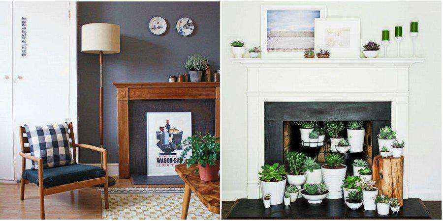 5-4-flower-pots-succulents-display-shelf-mantelpiece-home-garden-indoor-faux-fireplace-ideas