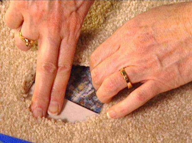 Как отремонтировать ковер чтобы не было видно