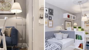 Как сделать уютной узкую 25-метровую квартиру-студию 4 | Дока-Мастер