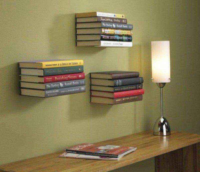 9 креативных книжных полок, которые украсят любое помещение
