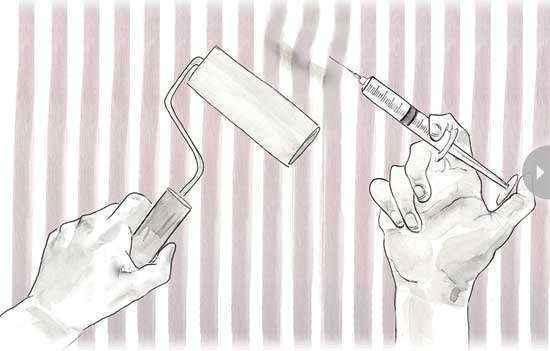 Как убрать пузыри на обоях