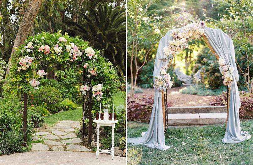 Идеи оформления летней свадьбы на улице