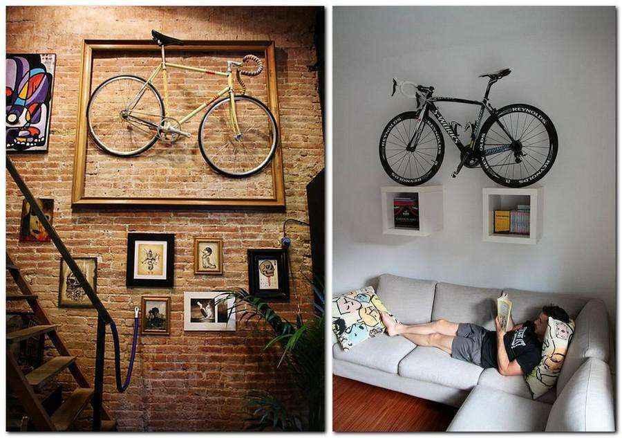 Как удобно хранить велосипед в квартире