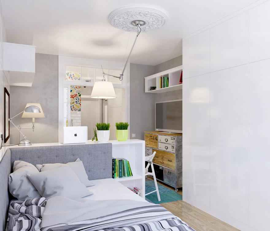 Как сделать уютной узкую 25-метровую квартиру-студию