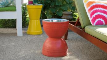 Как cделать столик из цветочных горшков 31 | Дока-Мастер