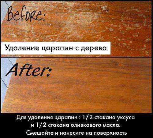 15 простых советов по удалению царапин на деревянной мебели