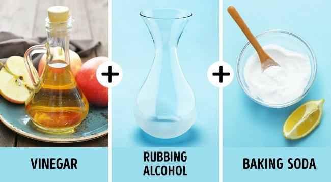 уксус, спирт и сода