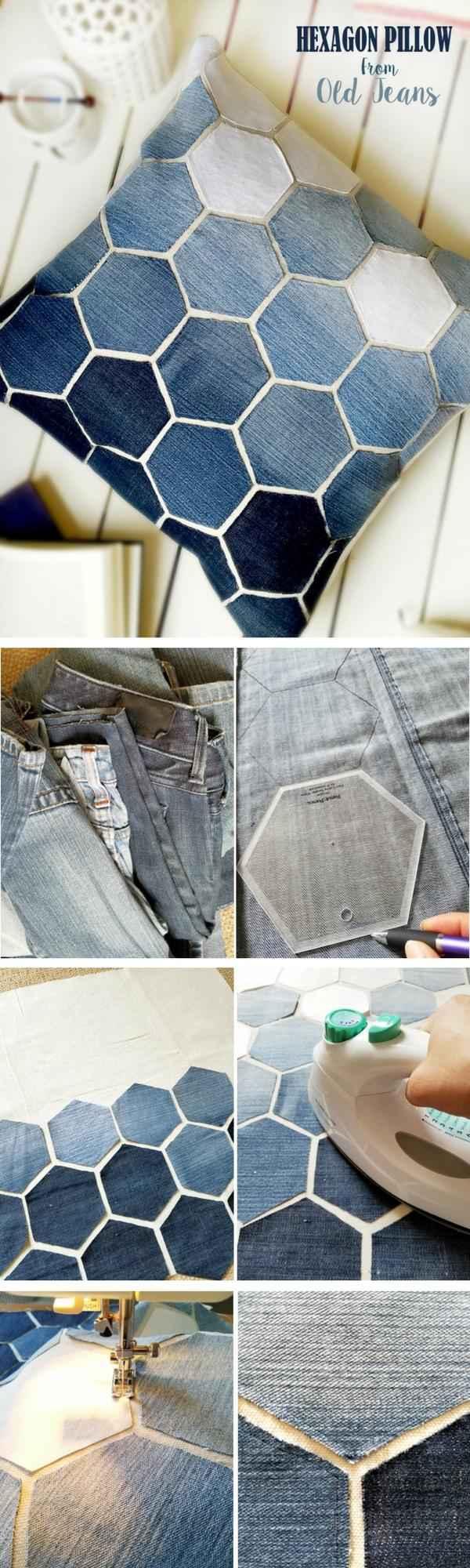 10 идей использования старых джинсов