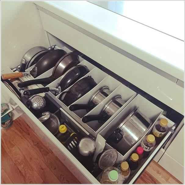 Как хранить кастрюли и сковороды