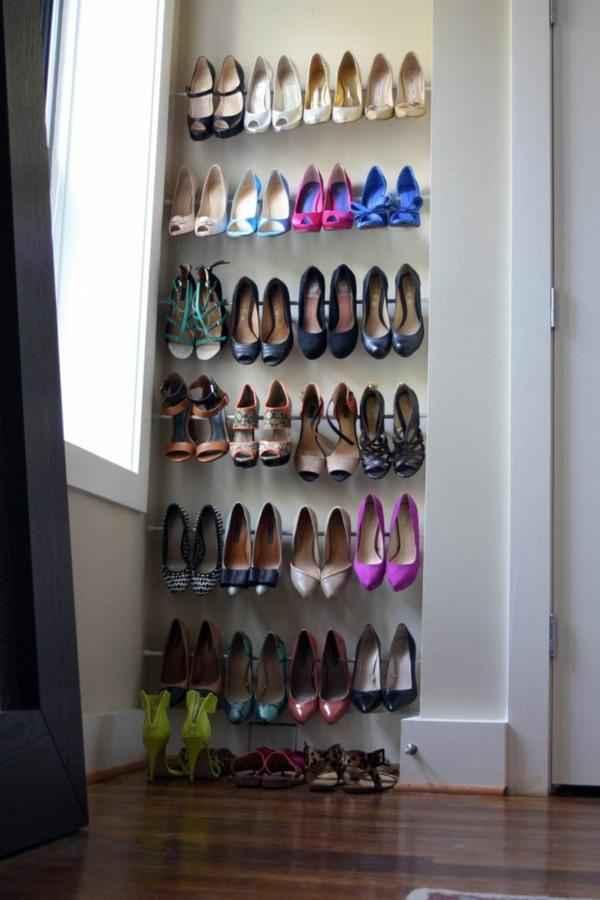 Оригинальные идеи хранения обуви