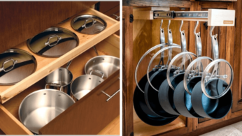 Как хранить кастрюли и сковороды 3   Дока-Мастер
