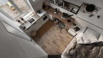 Дизайн квартиры площадью 18 квадратных метров 2 | Дока-Мастер