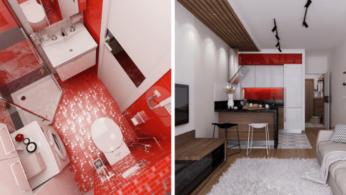 Дизайн квартиры площадью 30 квадратных метров для активной молодой женщины 1 | Дока-Мастер