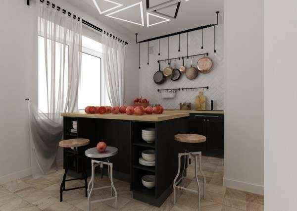 Дизайн квартиры площадью 29 квадратных метров  в стиле минимализм