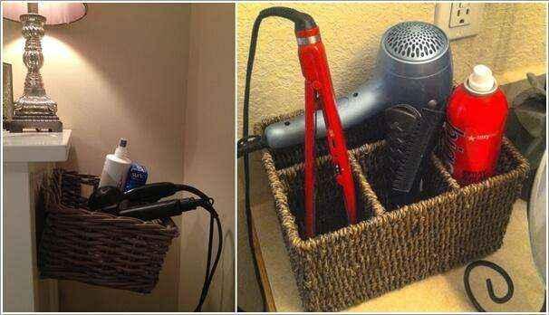 10 идей хранения приборов для завивки и аксессуаров для волос
