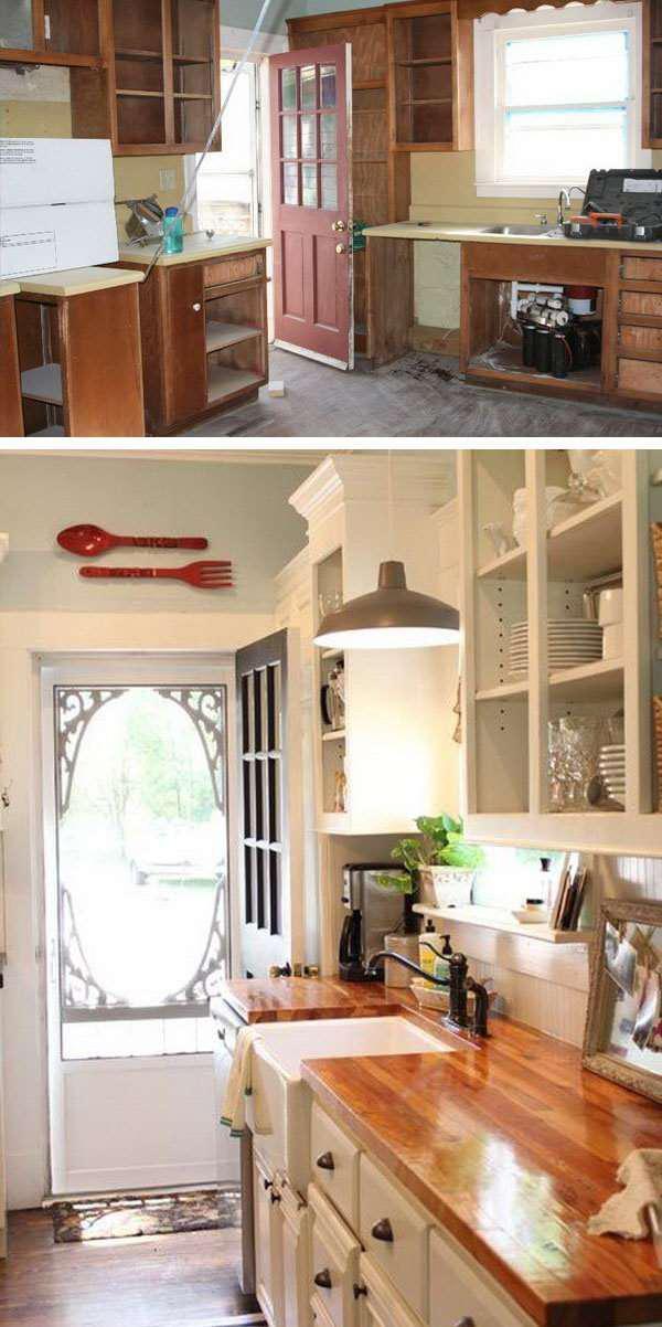 25 идей переделки старой кухонной мебели