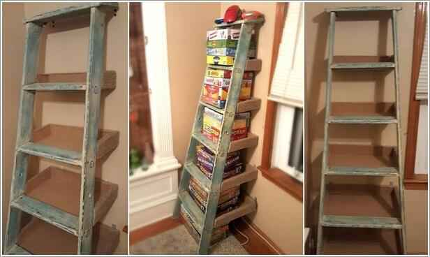 10 идей книжных шкафов из старья