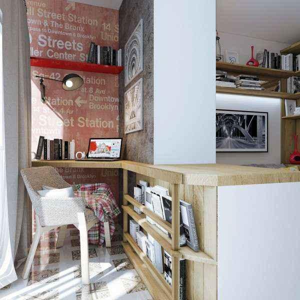 Дизайн квартиры площадью 17 квадратных метров для одинокого молодого человека