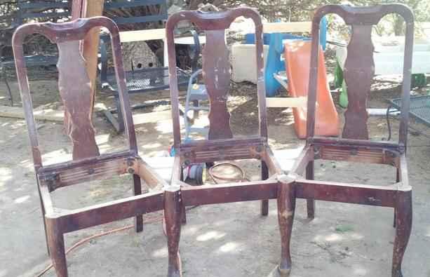 Как переделать старые кухонные стулья