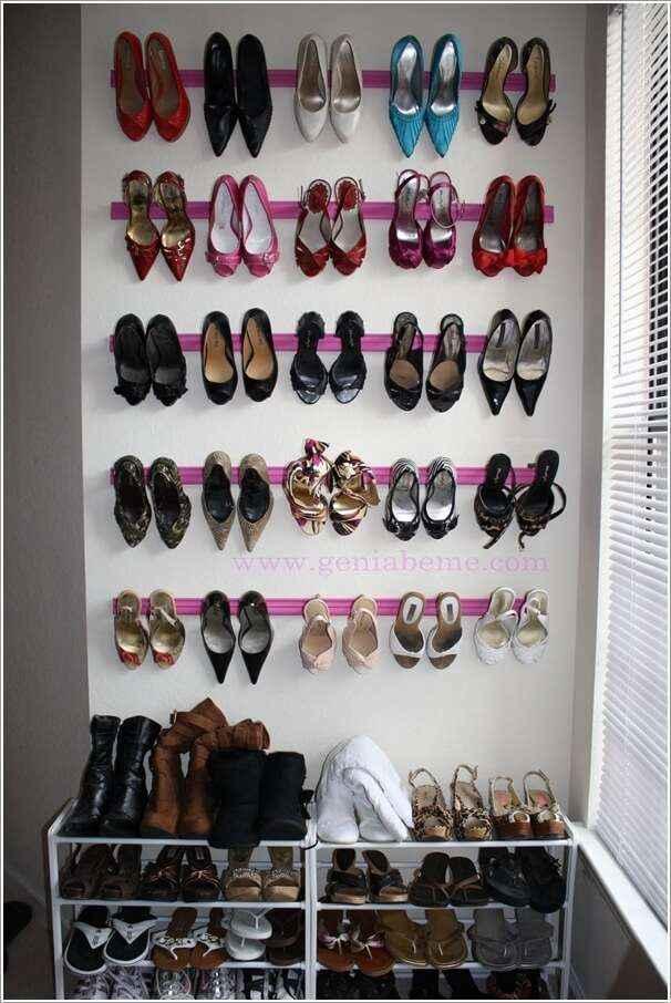 10 оригинальных способов хранения обуви