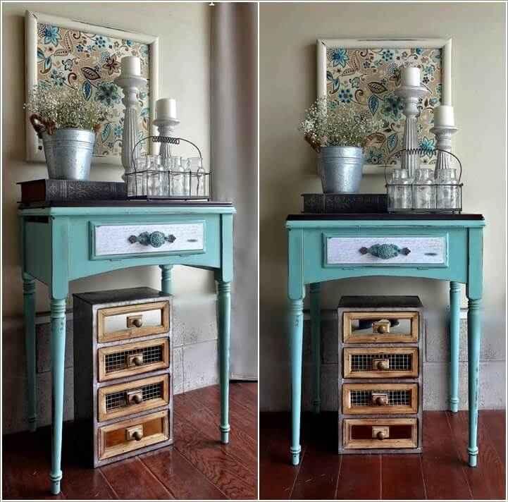 Что можно сделать из старого столика от швейной машинки