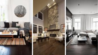 30 идей темного деревянного пола в гостиной 2 | Дока-Мастер