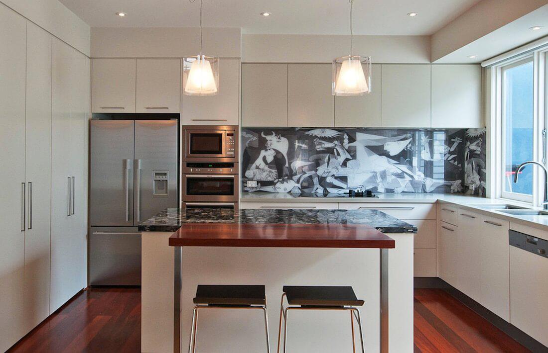 6 идей оформления контрастного кухонного фартука 1 | Дока-Мастер