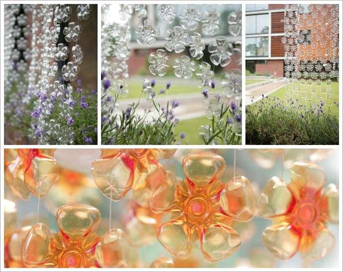 image1-56 | Потрясающие цветочные шторы из пластиковых бутылок