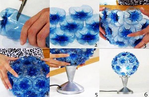 Необычный домашний декор из пластиковых бутылок 2   Дока-Мастер