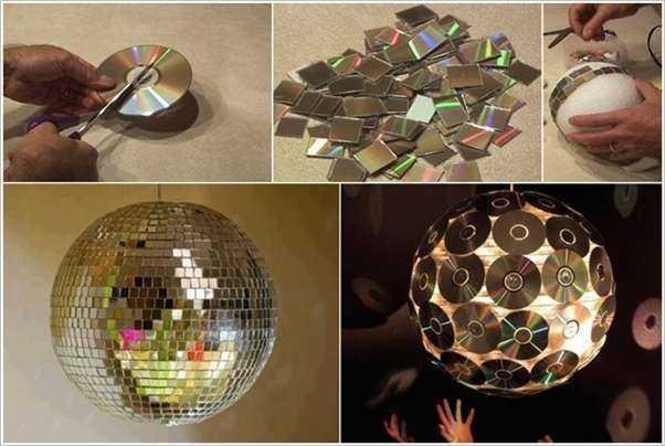 5 идей создания предметов декора из компакт-дисков 3 | Дока-Мастер
