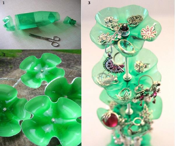 Необычный домашний декор из пластиковых бутылок 4   Дока-Мастер