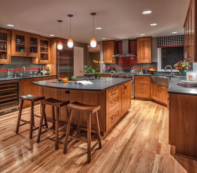 6 идей оформления контрастного кухонного фартука 4 | Дока-Мастер
