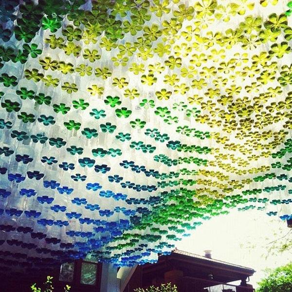 Необычный домашний декор из пластиковых бутылок 5   Дока-Мастер