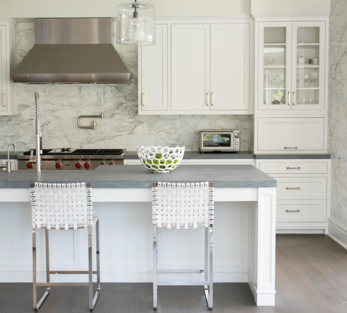 6 идей оформления контрастного кухонного фартука 5 | Дока-Мастер