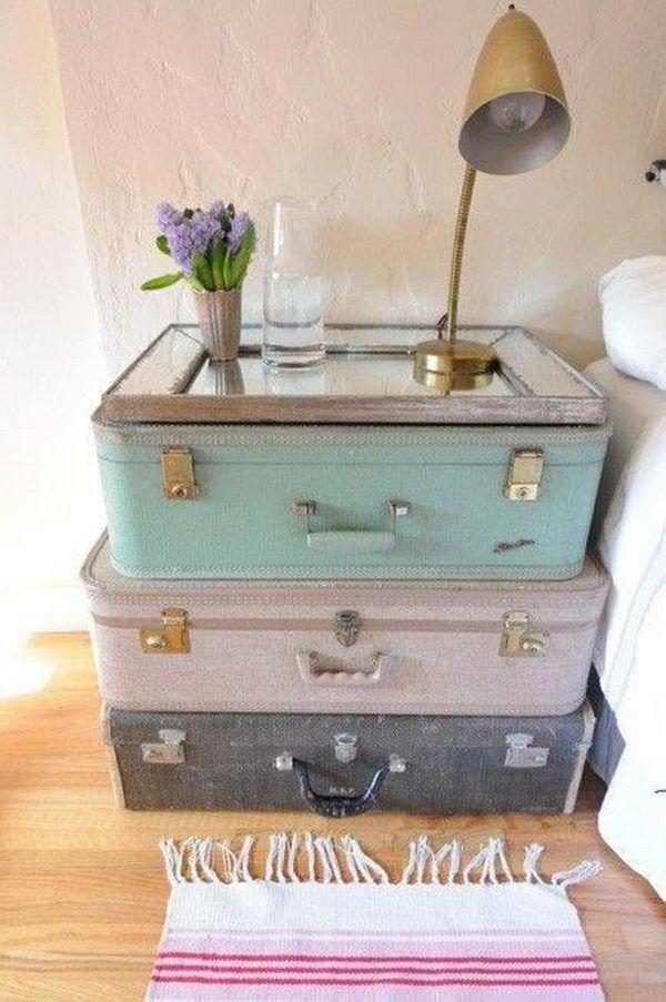 Творческие идеи использования старых чемоданов