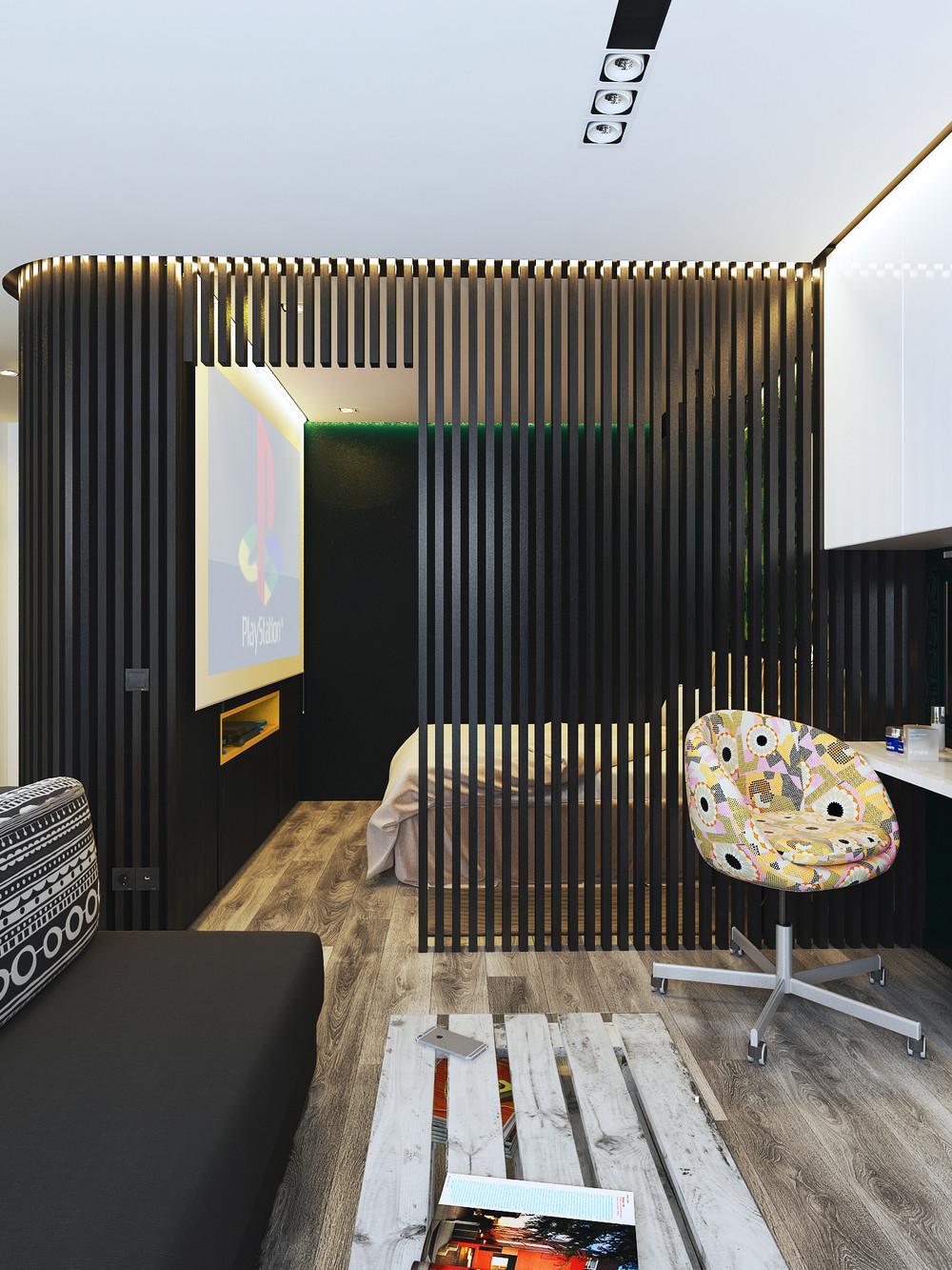 Дизайн квартиры площадью менее 40 м² для молодой пары