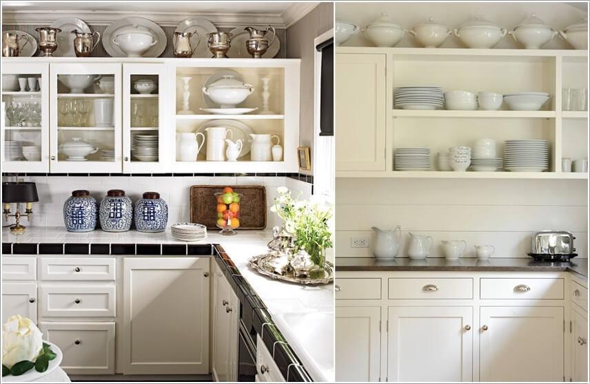 10 способов использования пространства над кухонными шкафами