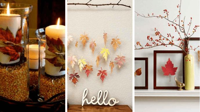 Как украсить дом осенью природными материалами 1 | Дока-Мастер