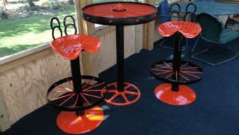 Барные стулья из автозапчастей в стиле лофт своими руками 26 | Дока-Мастер