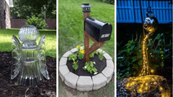 15 идей нестандартного оформления садовых фонарей 3 | Дока-Мастер
