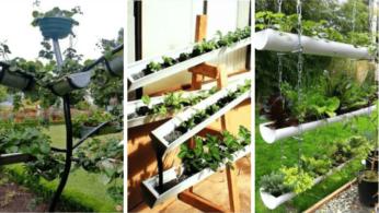 10 идей висячих садов из труб 19 | Дока-Мастер