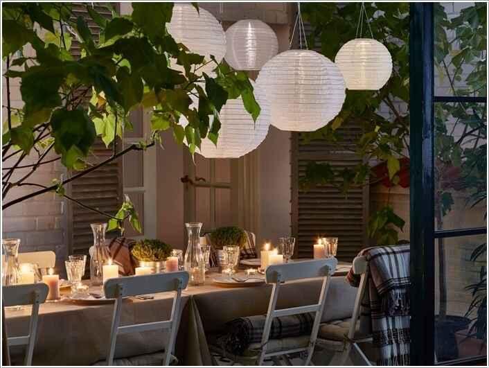 10 способов украсить дом и сад бумажными фонариками