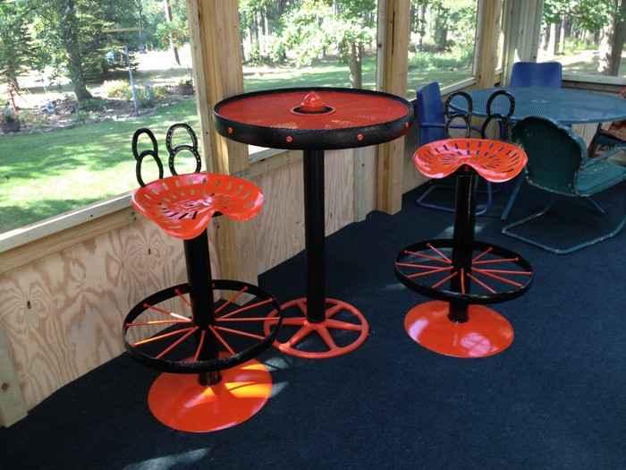 Барные стулья из автозапчастей в стиле лофт своими руками