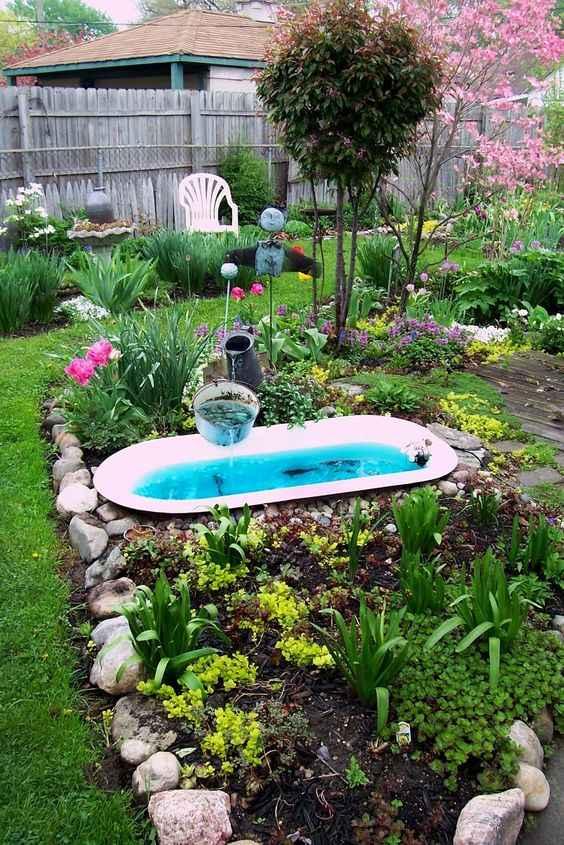 10 проектов садовых прудиков из ванны своими руками 1 | Дока-Мастер