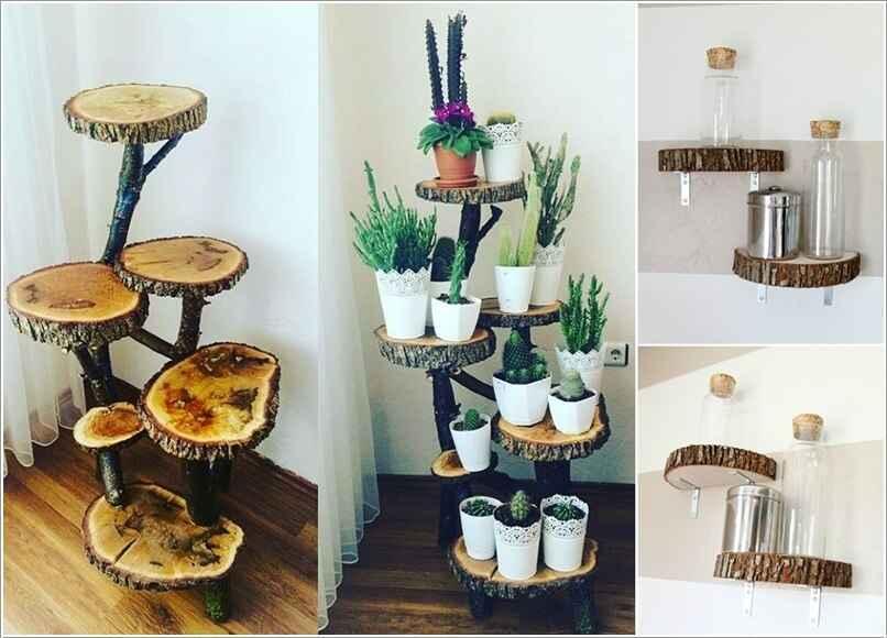 15 проектов предметов декора из спилов дерева 2 | Дока-Мастер